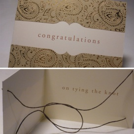 Tying the Knot Wedding Card
